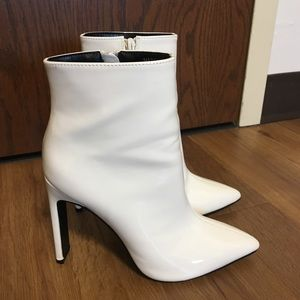 Forever 21 Worn Once White Heeled Ankle Boots